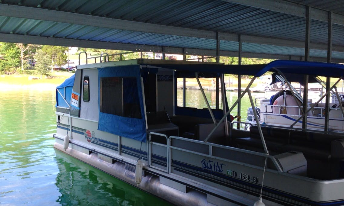 Rent a 12 Person Party Hut Pontoon in Jefferson City, Tennessee