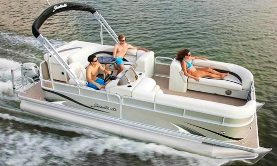 Rent 22' Pontoon Boat In Lake Pleasant, Ny