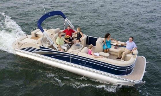 Rent 24' Pontoon Boat in Lake Pleasant, NY