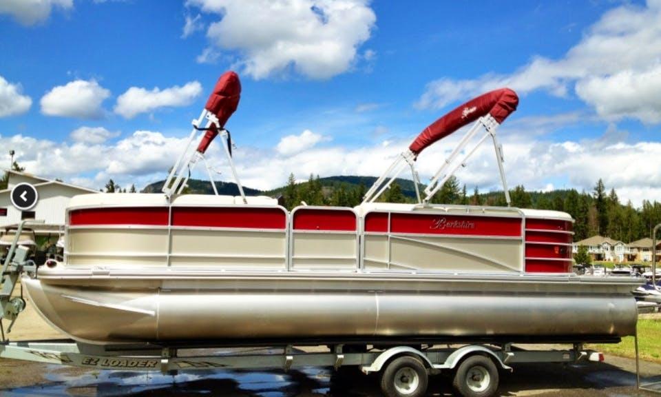 Rent a Berkshire 231RFC Pontoon for 10 Amazing People in Scotch Creek