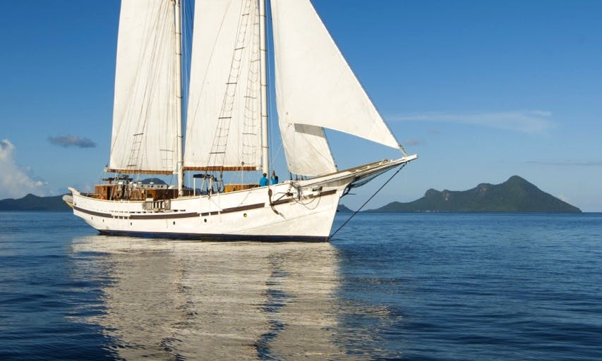 100' Gaff-Topsail Schooner Charter in Kawthoung