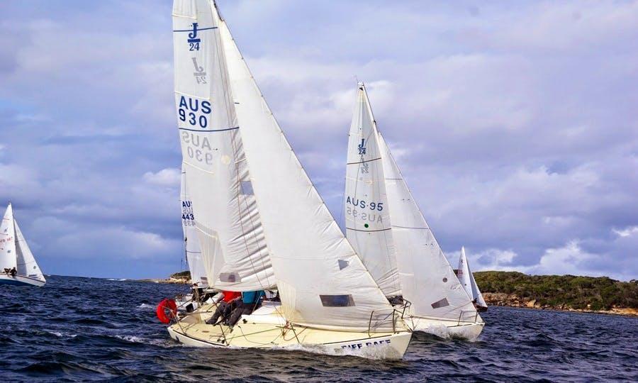 Skipper the J24 Sailingboat in Botany Bay