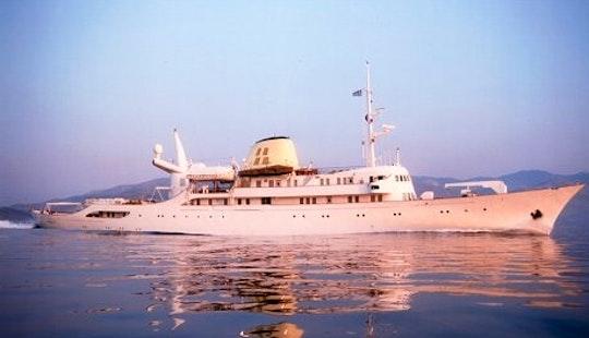 Charter The 325' Motor Yacht Christina O In Greece
