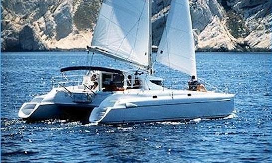 Athena 38 Catamaran Charter In Marina