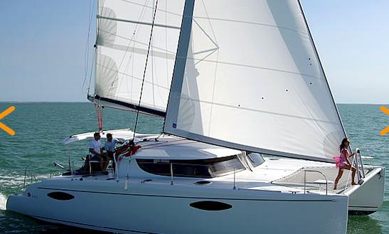 44' Orana Catamaran Charter In Marina