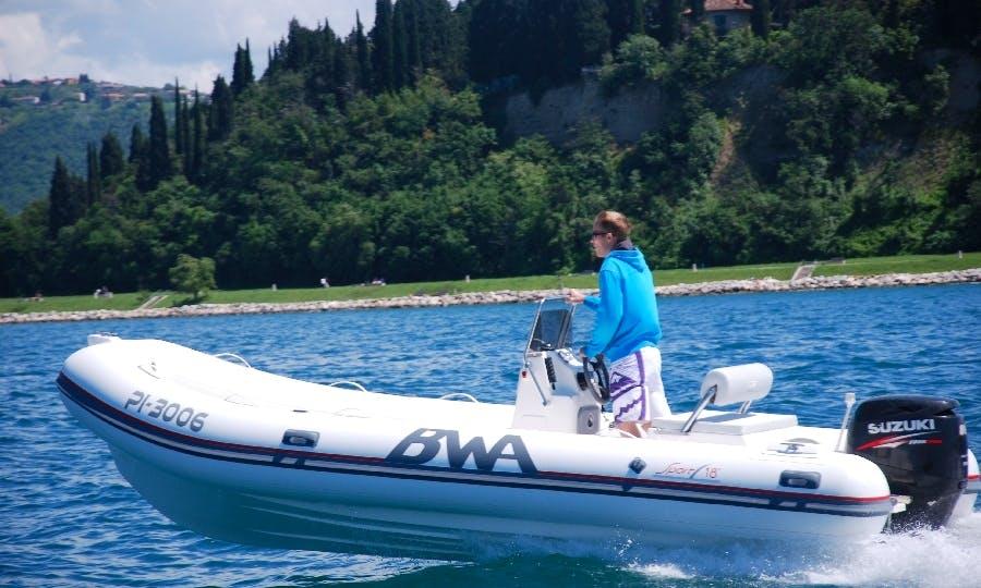Enjoy RIB Rental on this BWA 18 + Suzuki 80 from Zadar, Northern Croatia