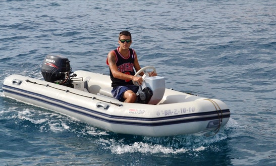 Rent A 13ft Valiant Rib In Barcelona, Spain For 5 Person