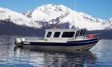 "Guided Fishing Charters On 27ft ""Nauti-Girl"" Yacht In Seward, Alaska"