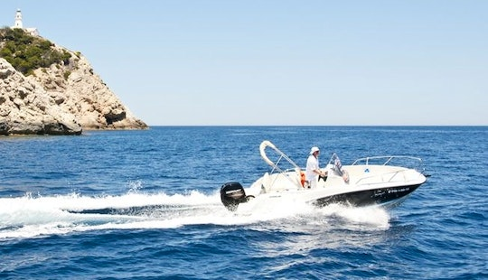 Mango Power Boat Rental In Es Pelats, Mallorca, Spain