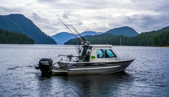 Freshwater Fishing In Ketchikan, Alaska On A 27' Cuddy Cabin Boat
