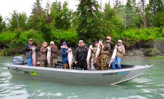 Enjoy Halibut Fishing In Kenai, Alaska On 20' Bass Boat