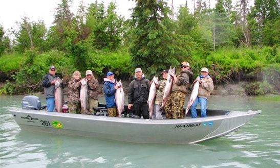 Enjoy Halibut Fishing In Kenai, Alaska On 20' Bass Boat