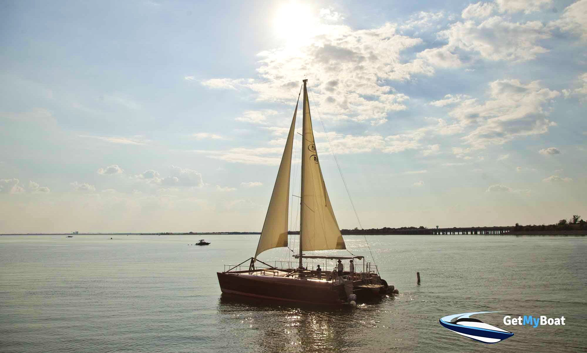 """Private Sailing Cruises On 40ft """"Seawolf"""" Wooden Catamaran in Rockwall, Texas"""