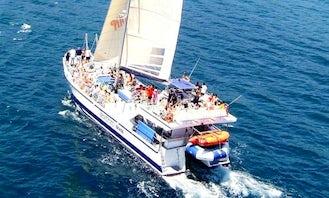 "Charter 65ft ""Lady Joana"" Cruising Catamaran In Blanes, Spain"