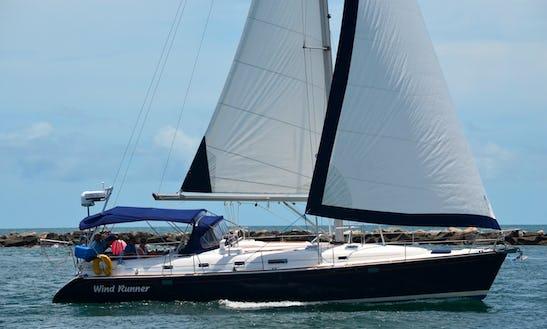 Captained Charter 47' Sloop Beneteau Oceanis 461in Miami Beach, Florida