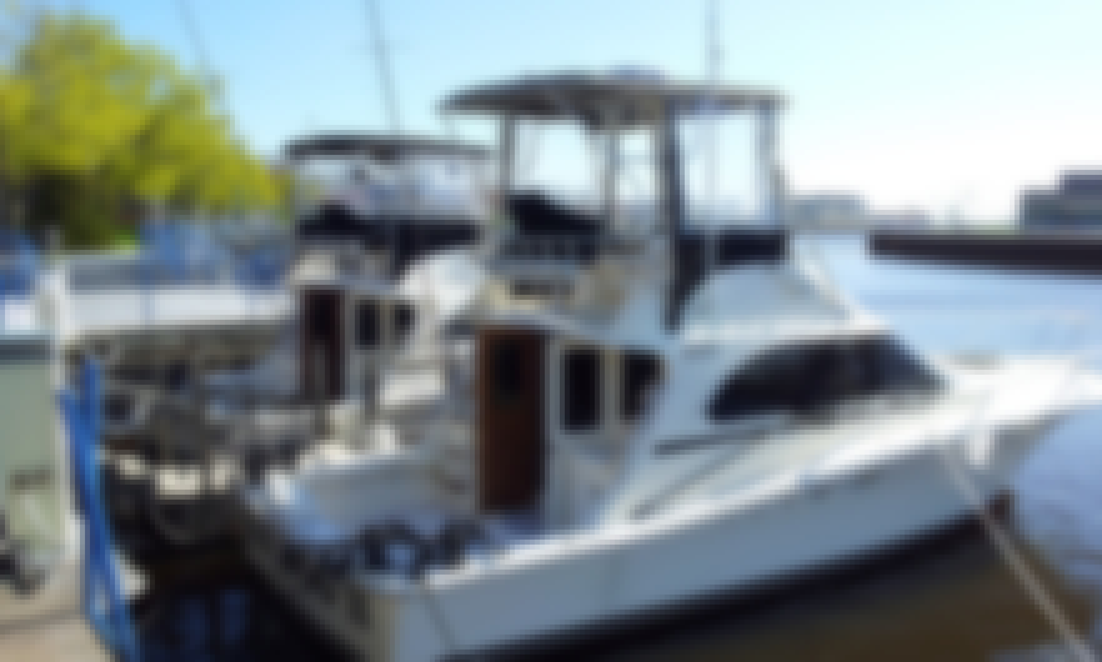 35' Sportfisherman Charter for Up to 6 People in Sheboygan, Wisconsin