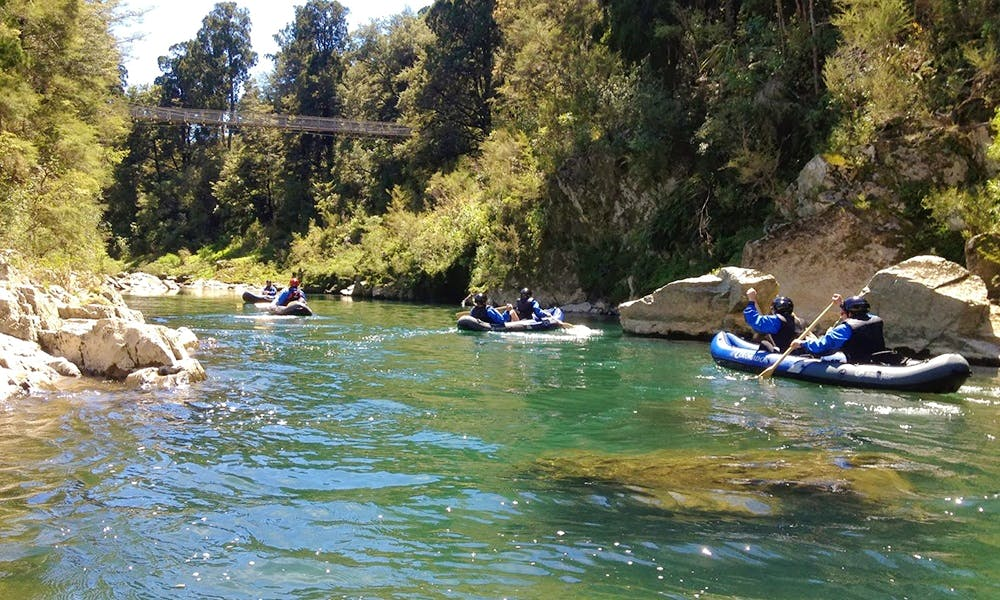 Kayak and Raft Trips on Pelorus River in New Zealand