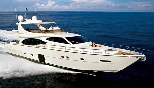 Charter Luxury Ferreti Power Mega Yacht In Eilat, Israel