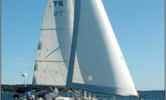 36ft Balance Pearson Cruising Sloop Boat Charter In Brooksville, Maine
