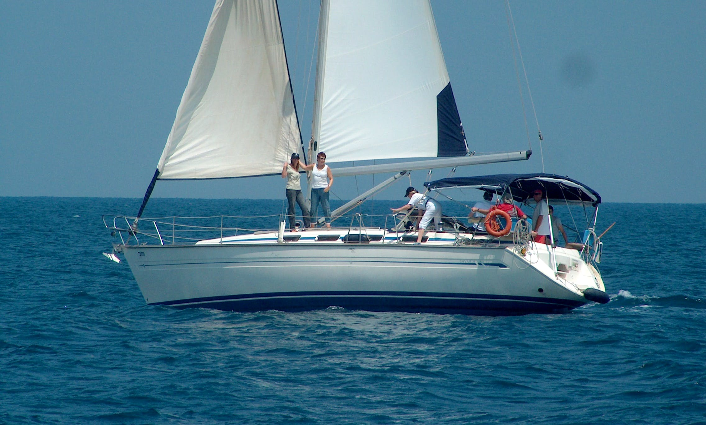 Cruising and Sailing the Haifa Bay on 42' Bavaria Sailboat