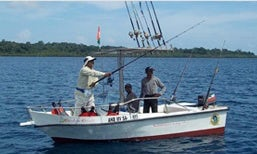 "Fishing Charter in Havelock, 14' Center Console ""Rainbow Runner"""