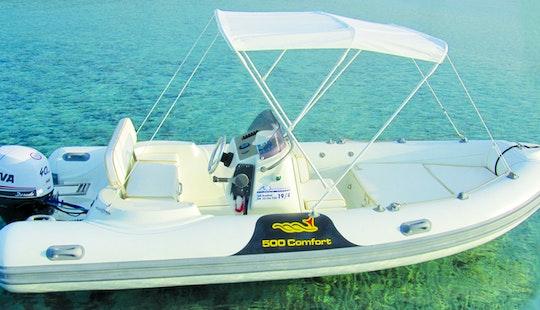 Rigid Inflatable Boat Mv Comfort Rental In Puntaldia