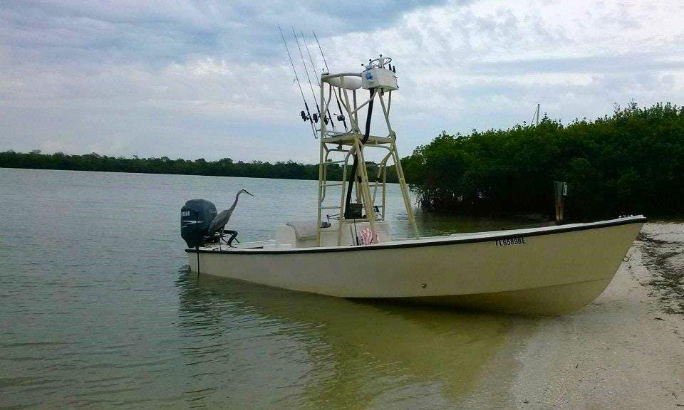 Fishing Charer On 22' Aquasport Center Console In Bokeelia, Florida