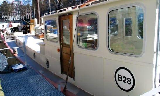 30' Houseboat Charter In Amsterdam, Netherlands