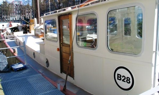 30' Houseboat Charter In Amsterdam, Netherlands