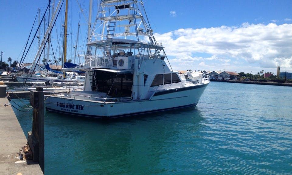 "60' ""Rumline"" Motor Yacht Charter in Honolulu, Hawaii"