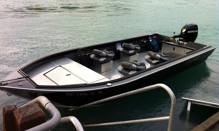 Guided Fishing Trips On 20' Jon Boat In Sterling, Alaska
