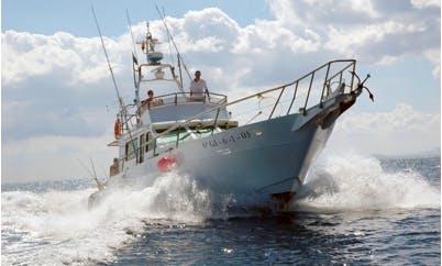 Charter Margarita Segundo for fishing in Puerto Calero, Canary Islands