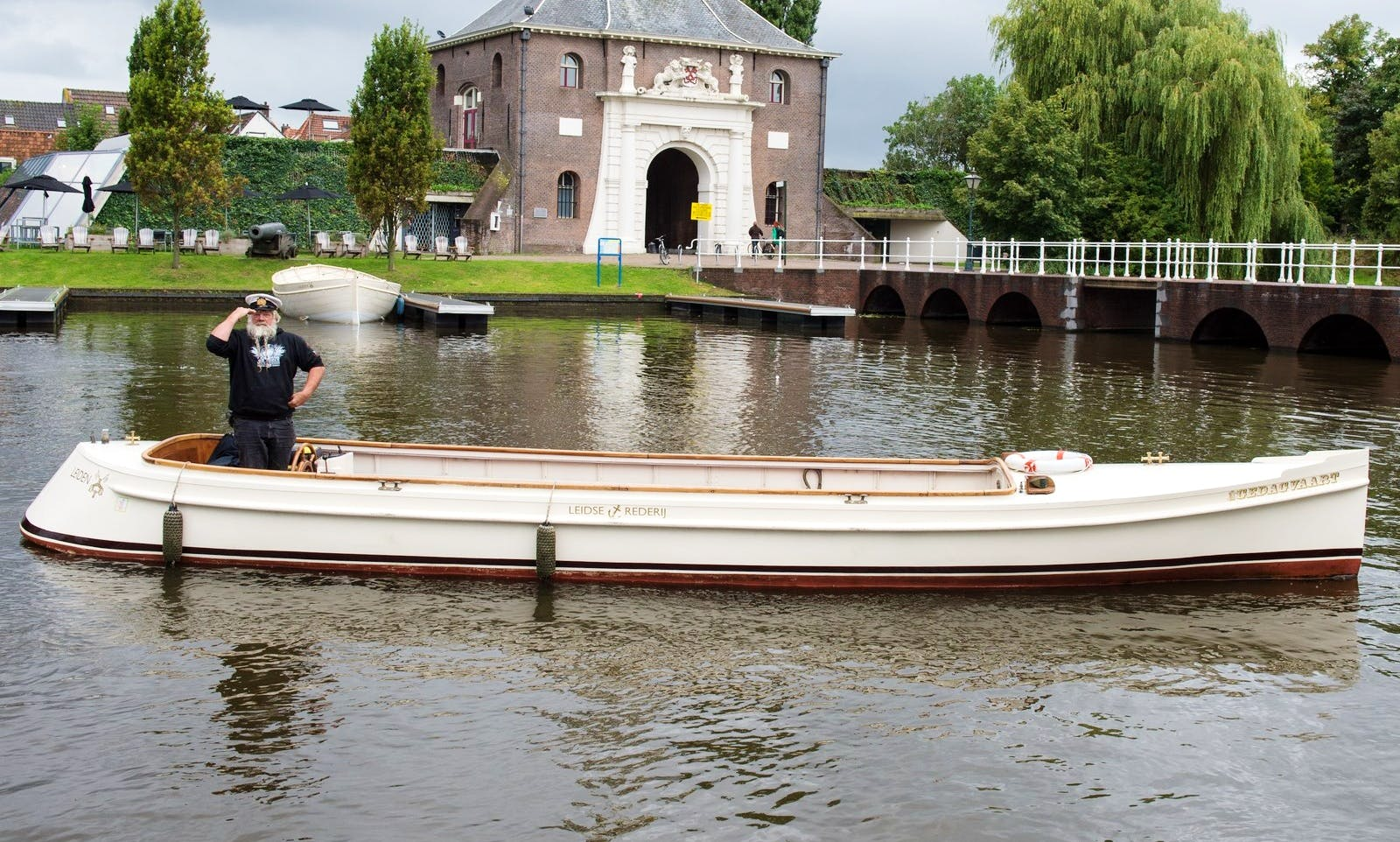 Classical Steel Boat Available for Private Charter in Leiden, the Netherlands