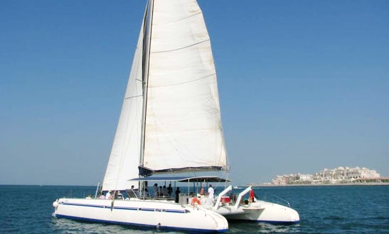 Charter 90' Voyager Cruising Catamaran In Dubai, Uae