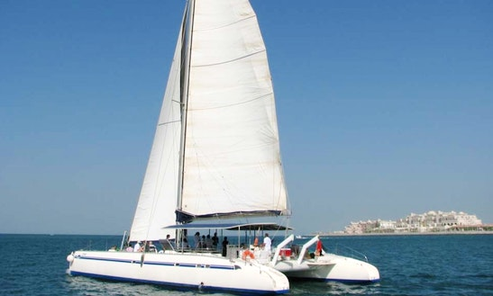 Charter 90' Voyager Cruising Catamaran In Dubai, Uae