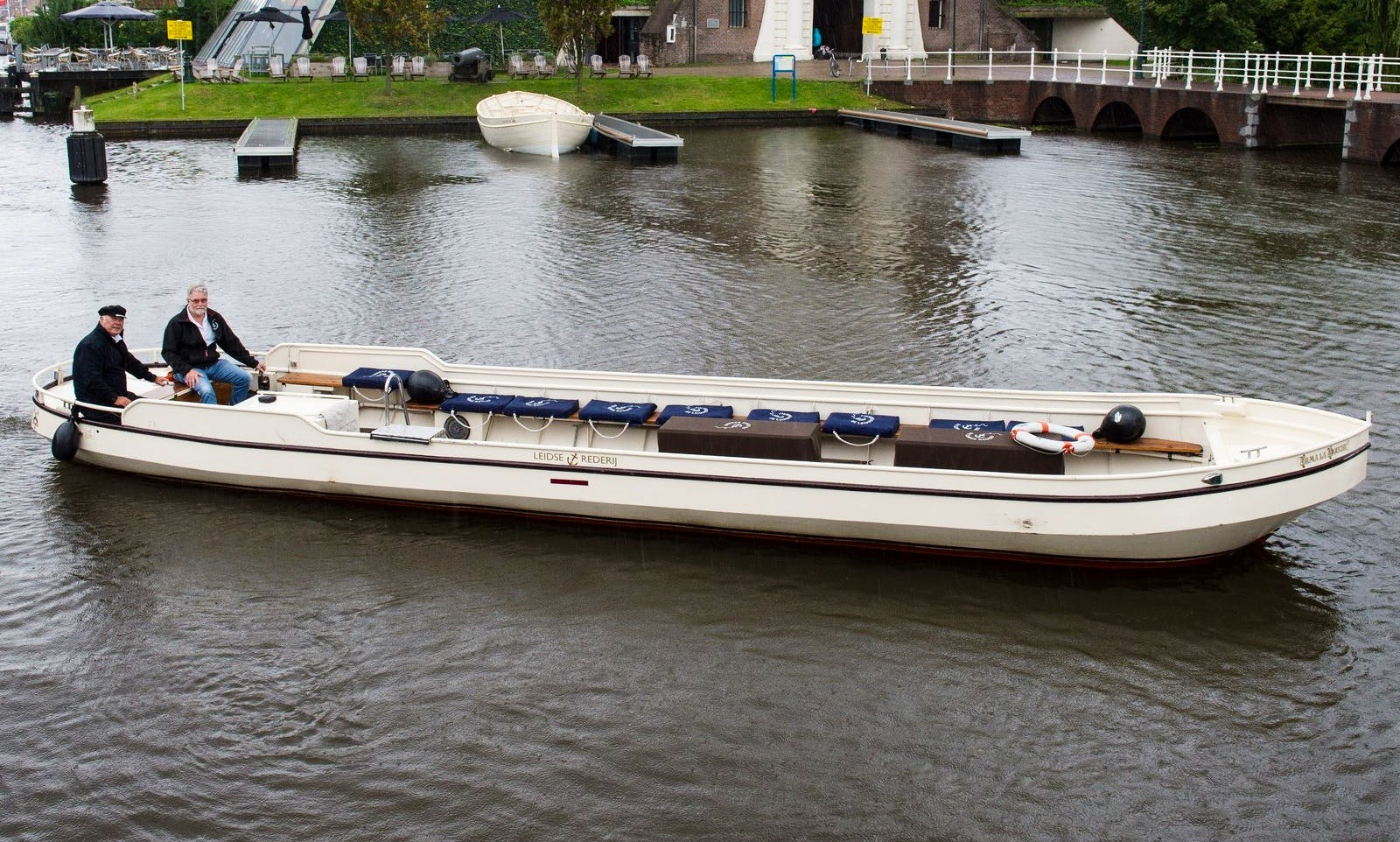 Wheelchair Accessible Flat Boat for Charter in Leiden, Netherlands