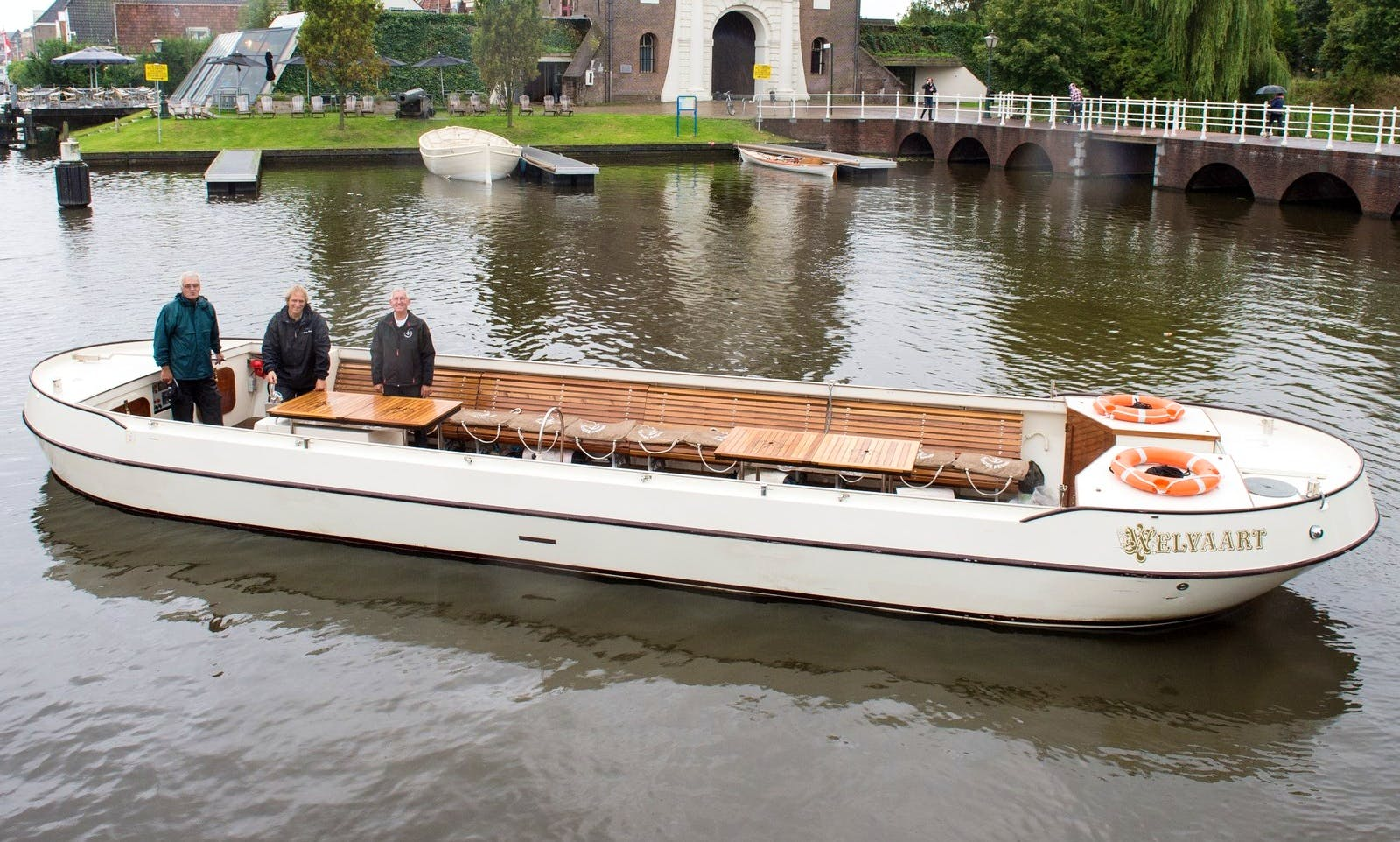 Book a 39' Canal Boat for 36 Person in Leiden, the Netherlands