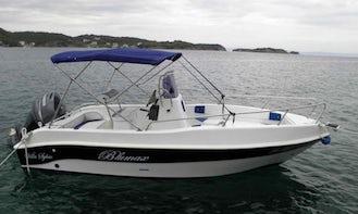 Hire a 'Blumax Open Blue Powerboat for 7 People in Supetarska Draga