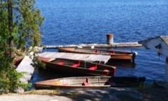 18 Ft Giesler Cedar Strip Row Boat Rental In Lavigne, Ontario
