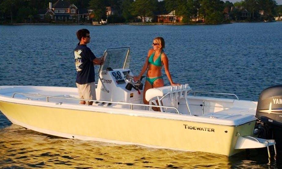 21ft Center Console Boat Charter in Hilton Head Island, South Carolina