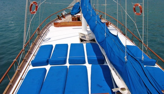 Take A Voyage Aboard A 16 Person Turkish Gulet In Bodrum, Mugla