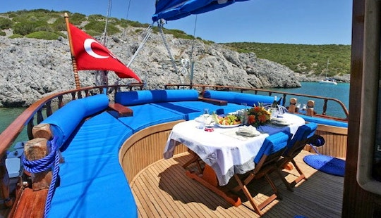 Sailing Gulet For 8 Person To Cruise The Turkish Coast