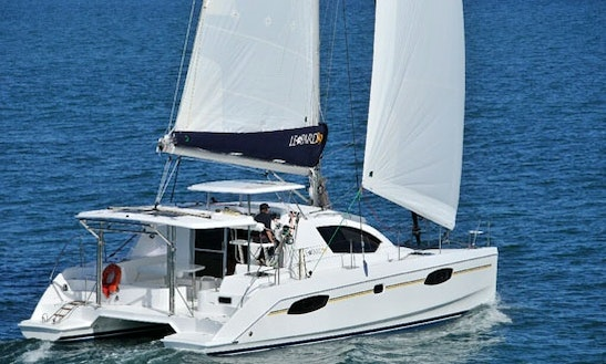 Sailing Charter On 38' Leopard 384 Cruising Catamaran In Cannigione. Italy