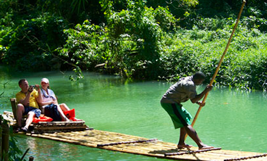 Rafting On The Martha Brae In Jamaica