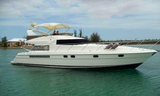 55' Blue Diamond Power Mega  Yacht Rental In Dona Paula