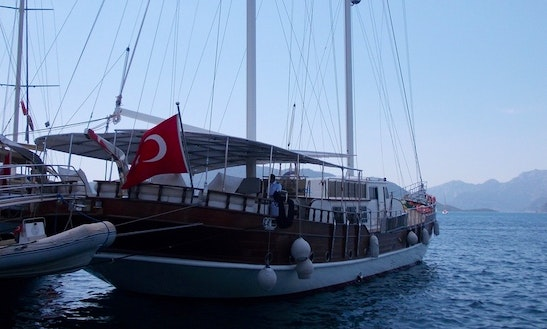 Sailing Gulet For 12 Guests For Charter In Marmaris, Turkey!