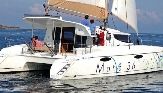 Luxury Catamaran Sailing Charter Mahé36 In Barcelona