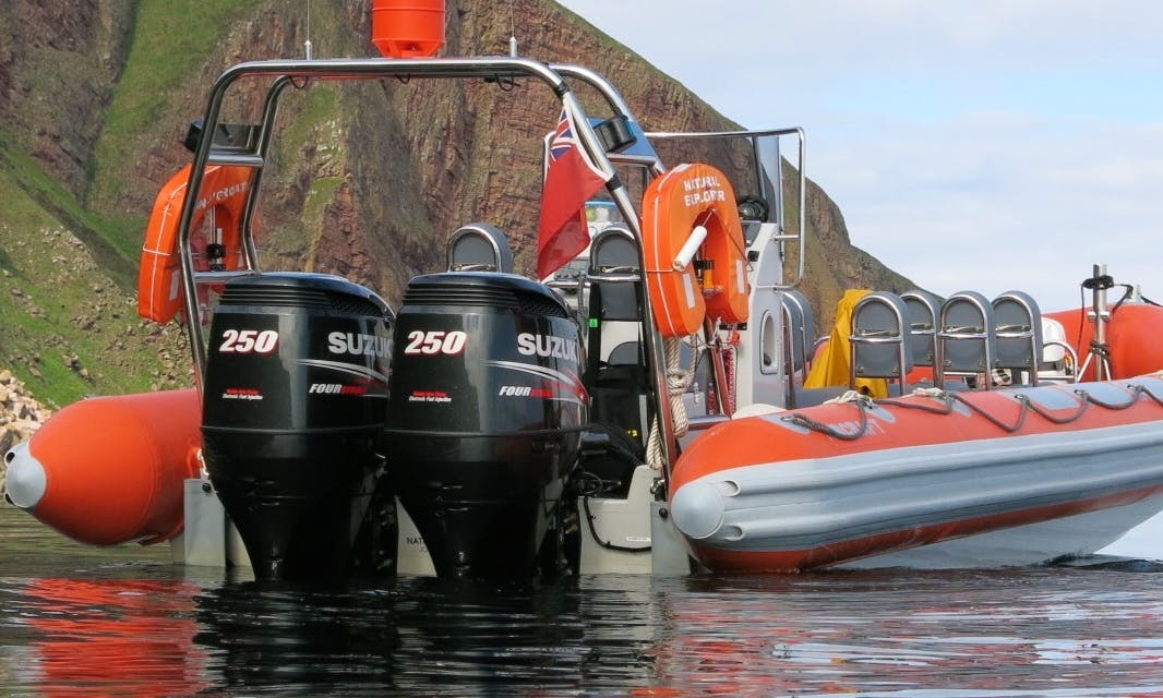 Twin Suzuki 250 Hp Powered Rigid Inflatable Boat in John O'Groats