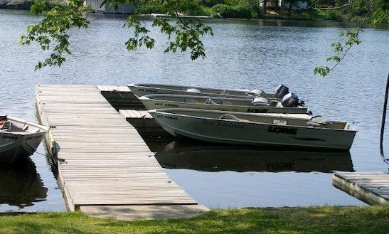 16' Aluminum Boat Charter In Sudbury