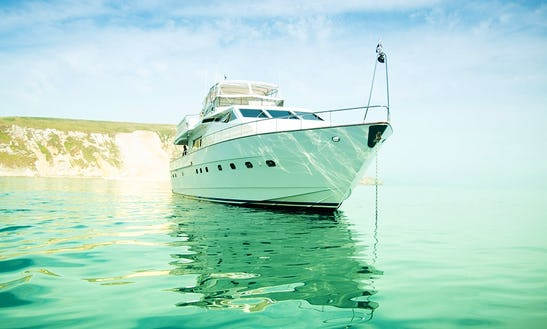 Luxury  Power Mega Yacht Charter For 12 People In South Coast Uk